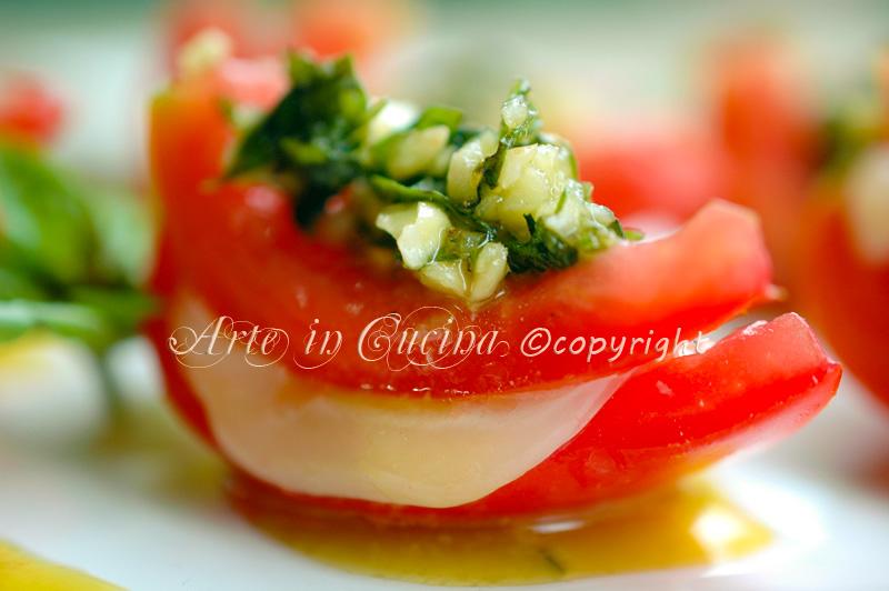 Pomodori ripieni di formaggio e pesto vickyart arte in cucina