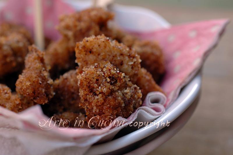 Popcorn di pollo crocchette ricetta arte in cucina