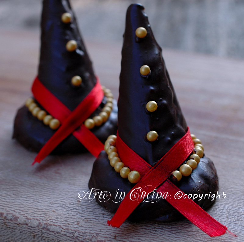 Cappelli della strega ricetta halloween arte in cucina