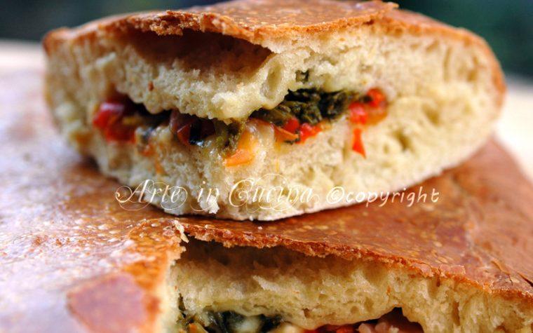 Pan brioche salato con salumi e verdure
