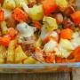 Patate e zucca al forno con wurstel e scamorza ricetta arte in cucina