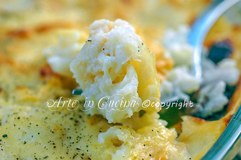 Baccala e cavolfiore al forno gratinato ricetta arte in cucina