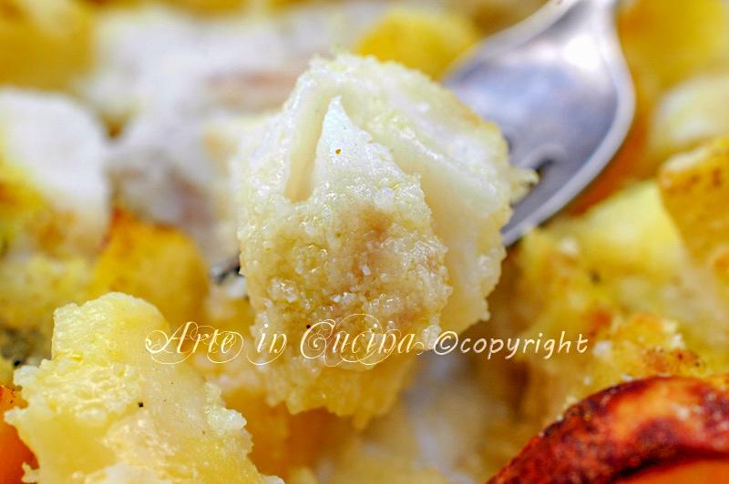 Baccala con patate al forno ricetta secondo arte in cucina