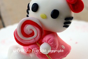 Torta hello Kitty in pasta di zucchero