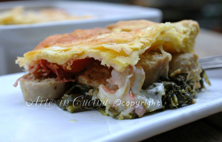 Lasagne al forno con salsiccia