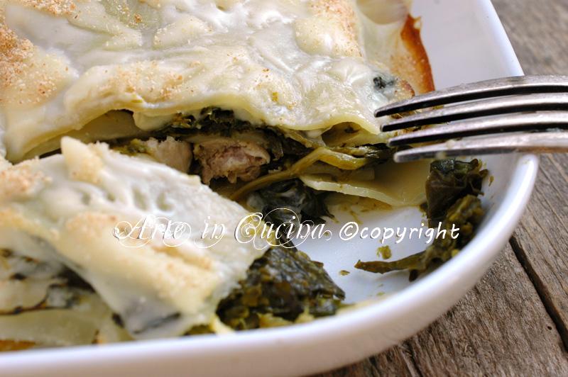 Lasagne con salsiccia e broccoletti ricetta arte in cucina