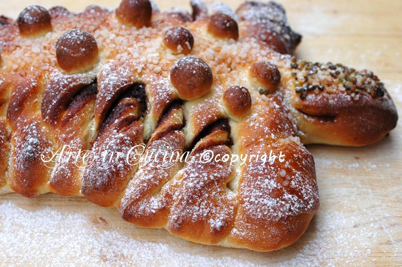 Albero di pan brioche alla nutella ricetta arte in cucina