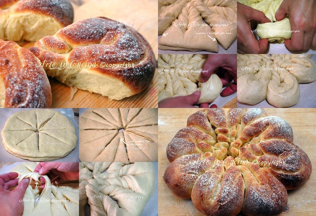Pan brioche fiore sofficissimo con foto passo passo vickyart arte in cucina