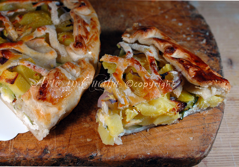 Torta salata zucchine e patate ricetta arte in cucina
