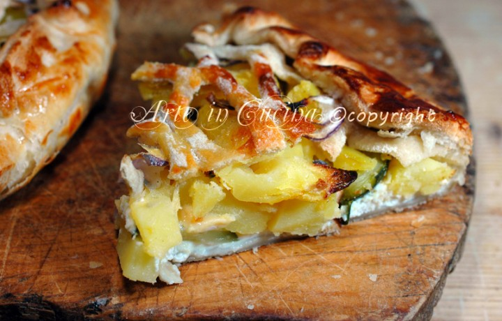 Torta salata zucchine e patate