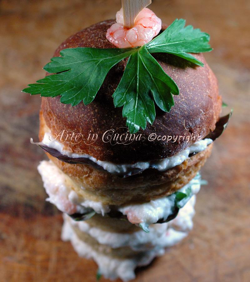 Antipasto vigilia panettoncini con mousse di gamberi ricetta Arte in Cucina