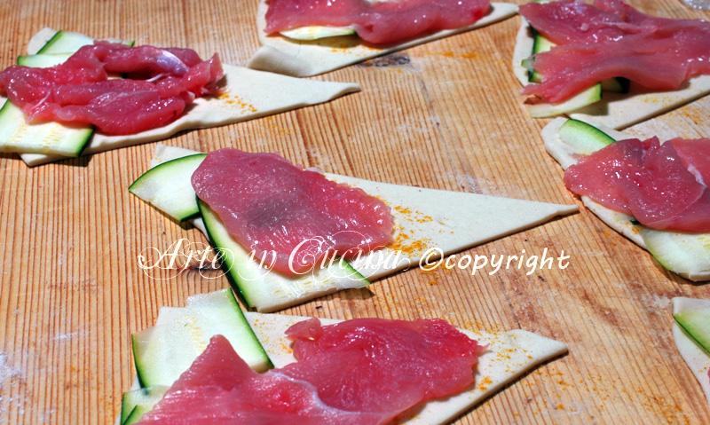 Cornetti salati ripieni di carne ricetta arte in cucina