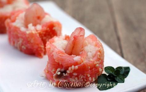 Involtini di salmone e riso vickyart