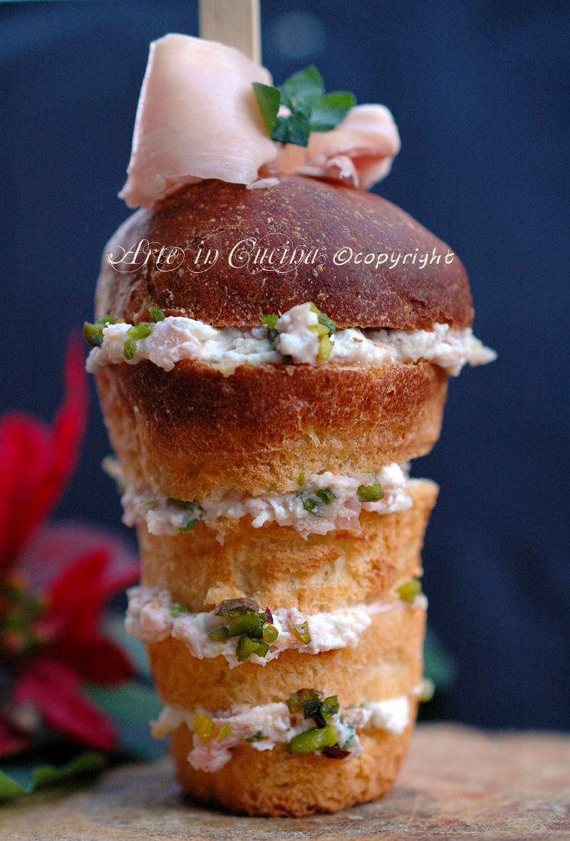 Panettoncini gastronomici con mousse al prosciutto ricette arte in cucina