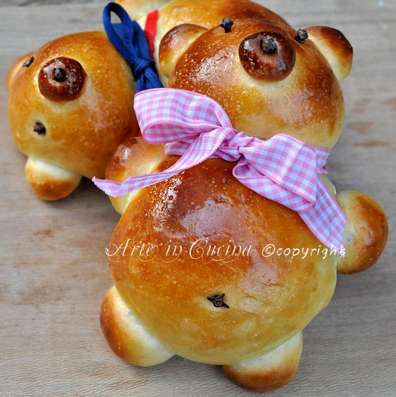 Conosciuto Orsetti di pan brioche per feste di compleanno | Arte in Cucina PA04