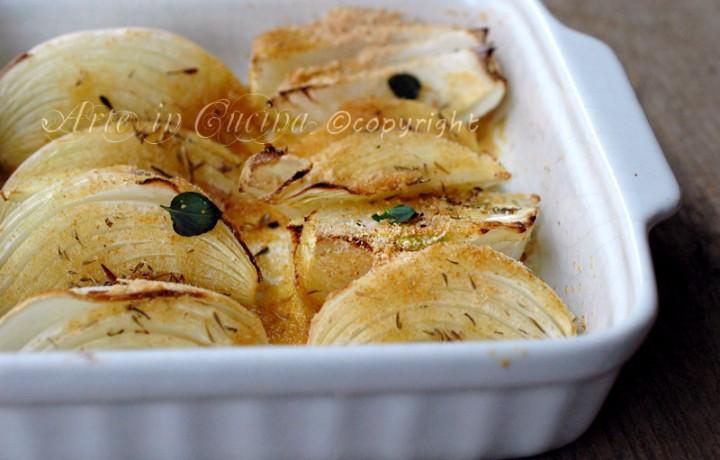 Cipolle gratinate al forno ricetta light