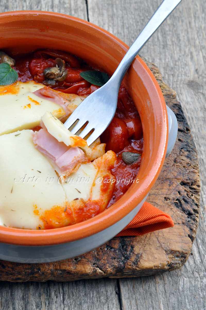 Cotoletta di scamorza al coccio ricetta facile arte in cucina