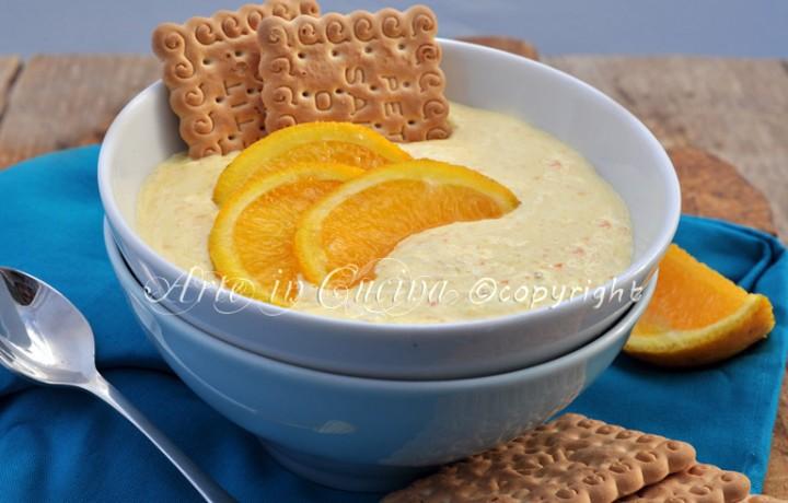Crema all'arancia senza latte e burro