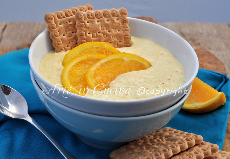 Crema all'arancia senza latte e burro ricetta arte in cucina