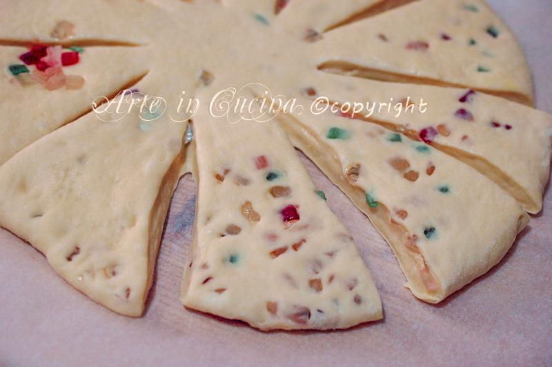 Foto passo passo ricetta focaccia dolce della befana vickyart arte in cucina