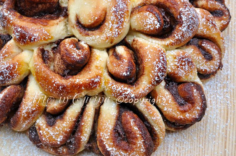 Pan brioche dolce soffice alla nutella ricetta facile arte in cucina