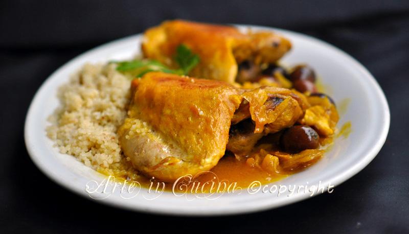 Pollo alla marocchina con cous cous ricetta facile secondo vickyart arte in cucina