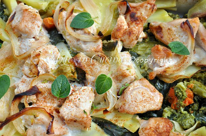 Pollo al forno con verdure ricetta light arte in cucina