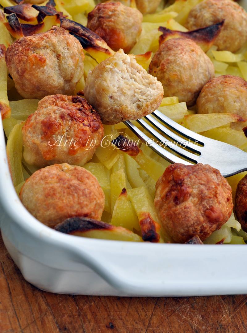 Polpette di pollo con patate al forno ricetta facile vickyart arte in cucina
