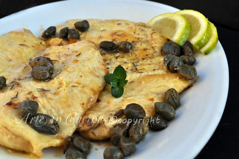 Scaloppine al limone ricetta facile e veloce economica vickyart arte in cucina