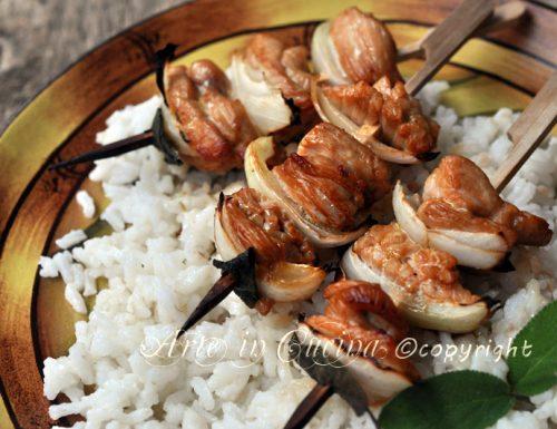 Spiedini di pollo al forno ricetta facile e veloce