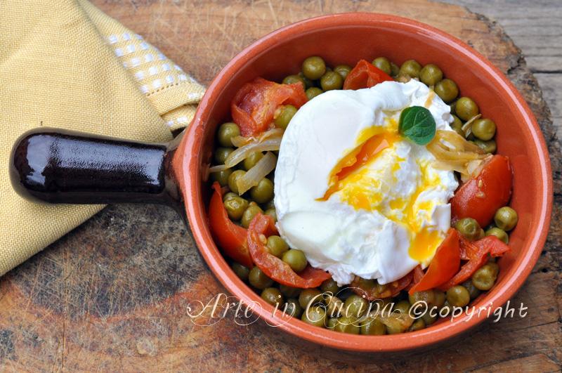 Uova con piselli ricetta light veloce arte in cucina for Cucinare dietetico