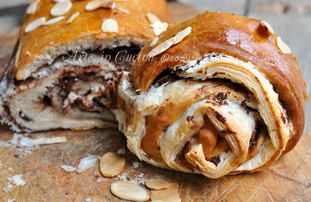 Brioche dolci alla nutella con doppio impasto ricetta arte in cucina
