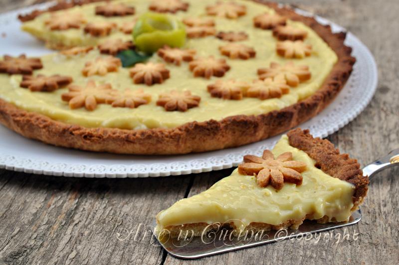 Crostata al limone e lime con bimby o senza ricetta arte in cucina