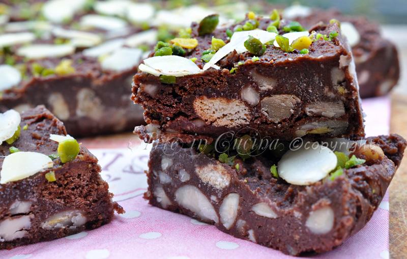 Mattonella al cioccolato con biscotti pan di stelle ricetta veloce arte in cucina