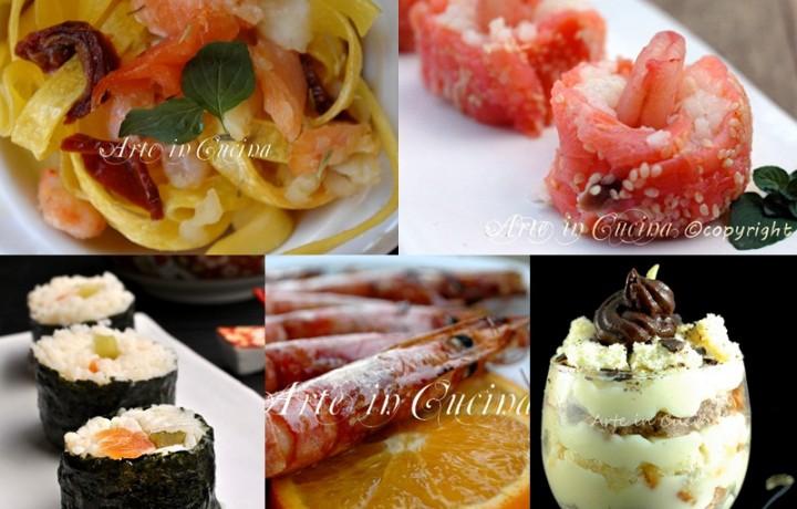 Menu cena romantica a base di pesce