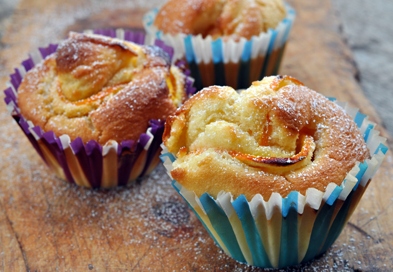 Muffin all arancia ricetta dolce veloce arte in cucina - Cucina macrobiotica dolci ...