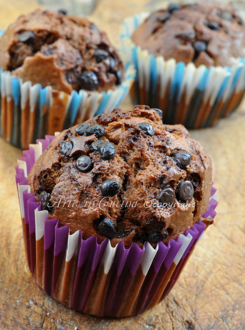 Muffin al cioccolato e nutella con bimby o senza ricetta arte in cucina