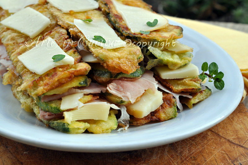 Parmigiana di zucchine bianca ricetta facile vickyart arte in cucina