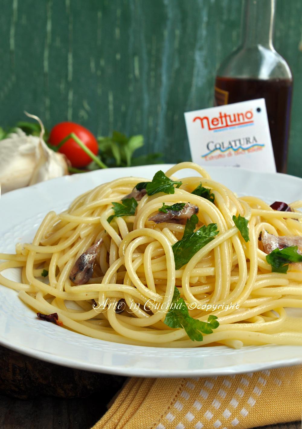 Spaghetti con colatura di alici di cetara ricetta arte in cucina