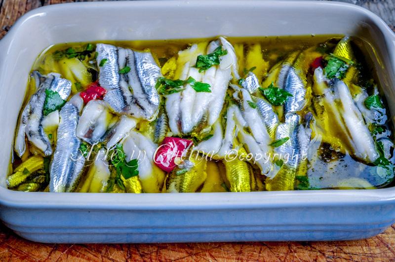 Alici marinate ricetta facile vickyart arte in cucina