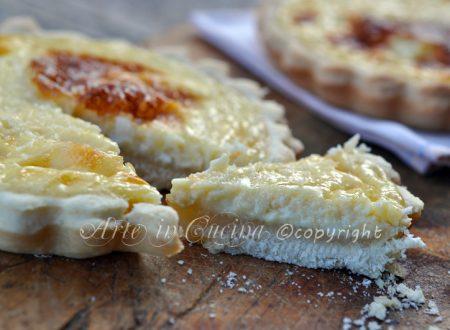 Crostatine al limone e ricotta