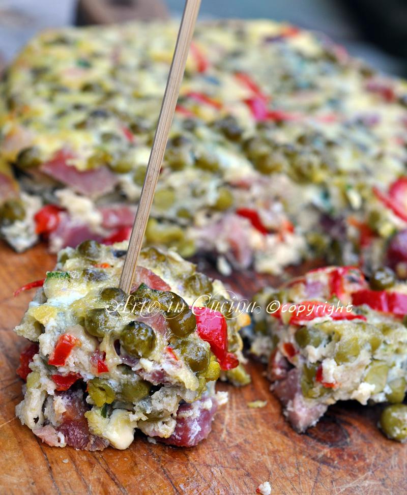 Frittata al forno con piselli ricetta sarda arte in cucina