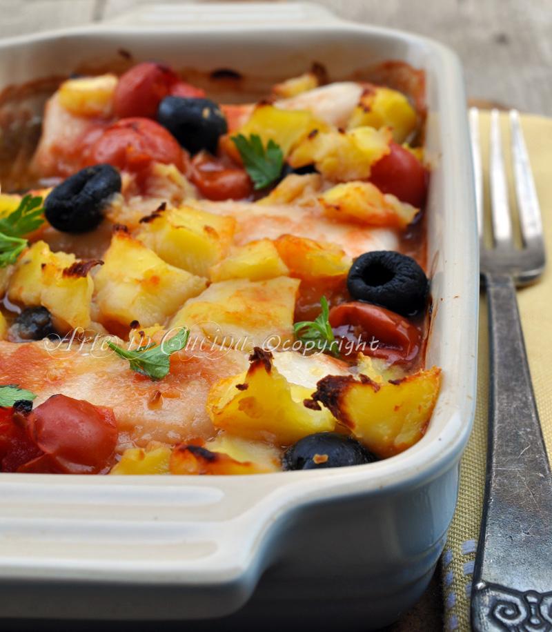 Merluzzo al forno con patate ricetta arte in cucina