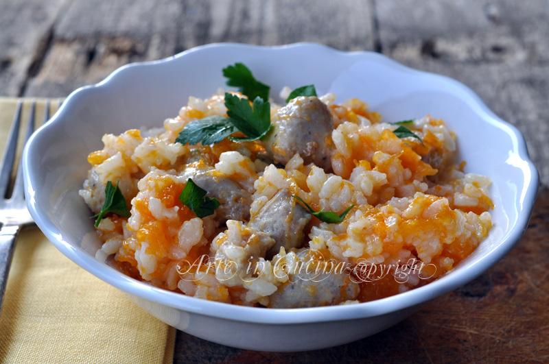 Riso con zucca e salsiccia ricetta arte in cucina