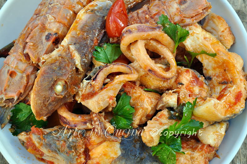 Zuppa di pesce ricetta facile vickyart arte in cucina