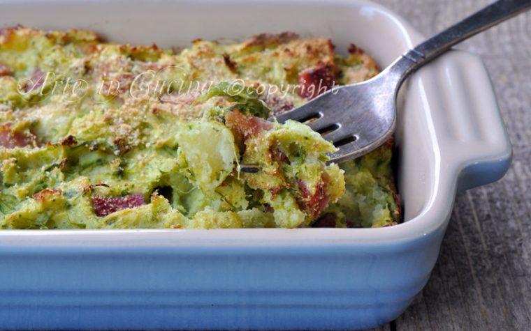 Asparagi con pancetta e patate al forno