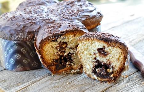 Colomba alla nutella e cioccolato ricetta vickyart arte in cucina