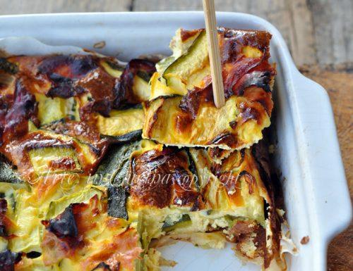 Frittata di zucchine e prosciutto al forno