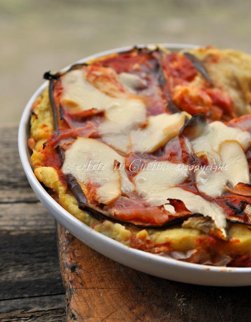 Parmigiana di patate e melanzane ricetta vickyart arte in cucina