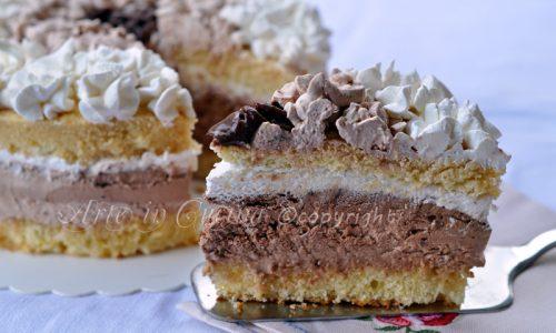 Abbraccio di venere torta alla nutella e cioccolato